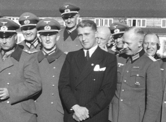Wernher von Braun, center, with Nazi officials in 1941.