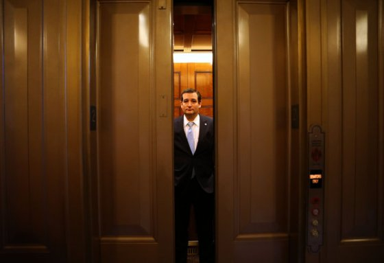 Doug Mills/The New York TimesSen. Ted Cruz entered an elevator on Capitol Hill on Thursday.