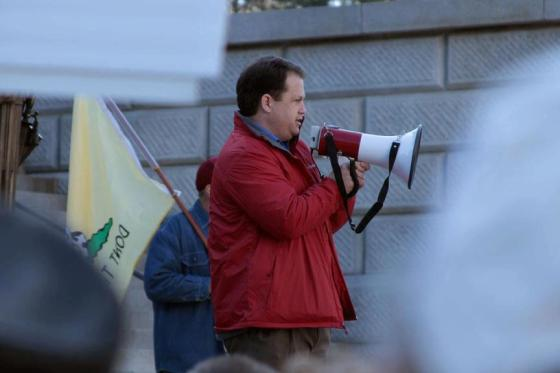 State Senator Lee Bright speaking at the 'Guns Across America' rally in Columbia, SC. (1/19/2013)Photo Credit: Andrew Mullinax