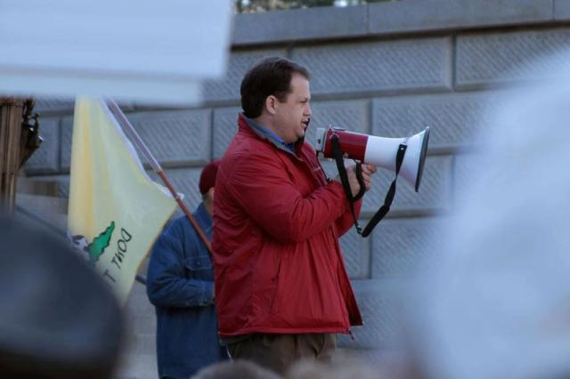 State Senator Lee Bright speaking at the 'Guns Across America' rally in Columbia, SC. (1/19/2013) Photo Credit: Andrew Mullinax