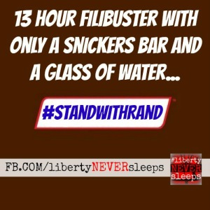 Stand with rand snickers